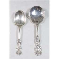 Lot of 2 Sterling Silver Spoons