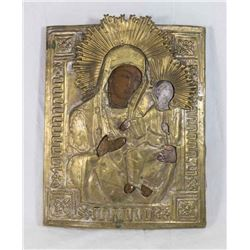 """Russian Icon, """"Mother and Child"""""""