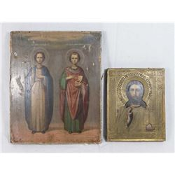 2 19th Century Russian Icons
