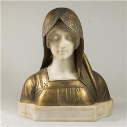 Bronze & Marble Bust Beatrice