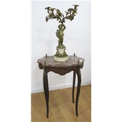 French Candelabra & Louis XV Style Table