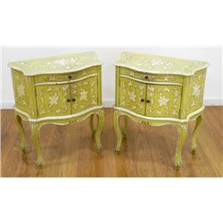 Pair Venetian Style Commodes