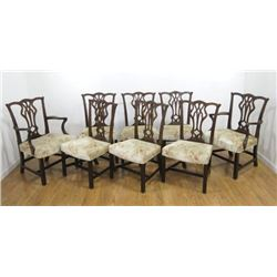 Set 8 Chippendale Style Chairs