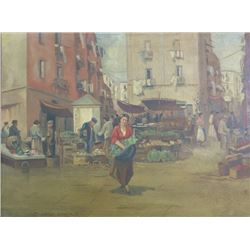 "After Edouard Cortes, ""Market Scene"""