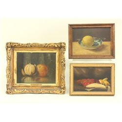 3 Late 19th Century-Early 20th Century Still Lifes