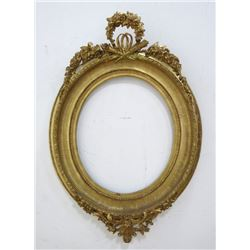 19th Century Oval Giltwood Frame