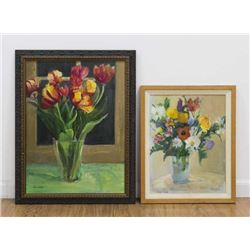 Chris Ford, Two Floral Still Lifes