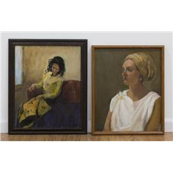 Chris Ford, Two Female Portraits
