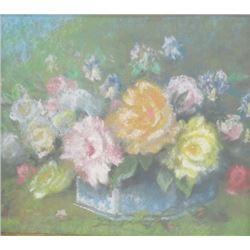 Pastel Still Life of Flowers