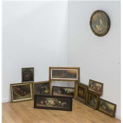 Group Lot of 10 Still Life Paintings
