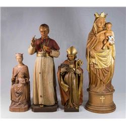 4 Religious Wood Carvings