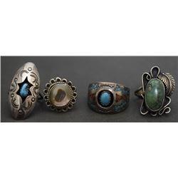 FOUR NAVAJO RINGS