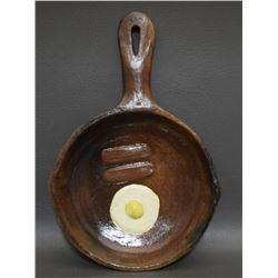 NAVAJO POTTERY FRYING PAN (MANNYGOATS)