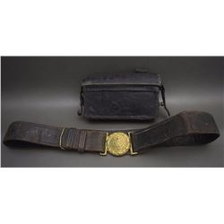 ANTIQUE BELT AND CARTRIDGE HOLDER