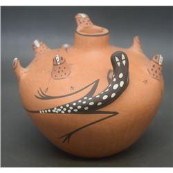 ZUNI POTTERY SEED JAR (PEYNETSA)
