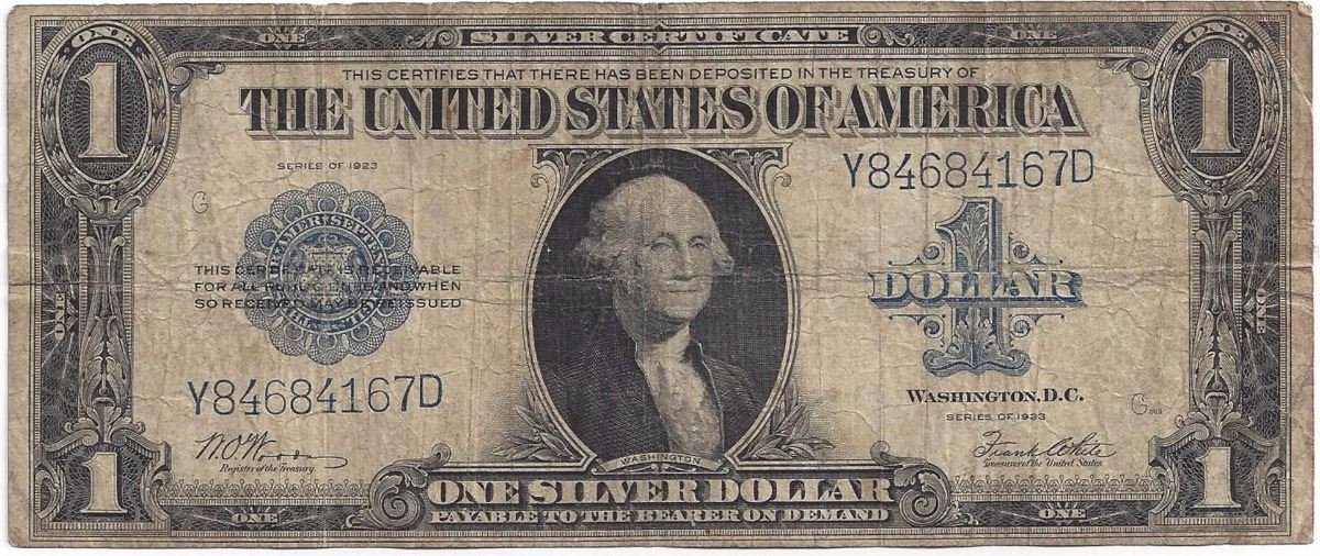 Special sold out 1923 $1 Silver Certificate Woods and