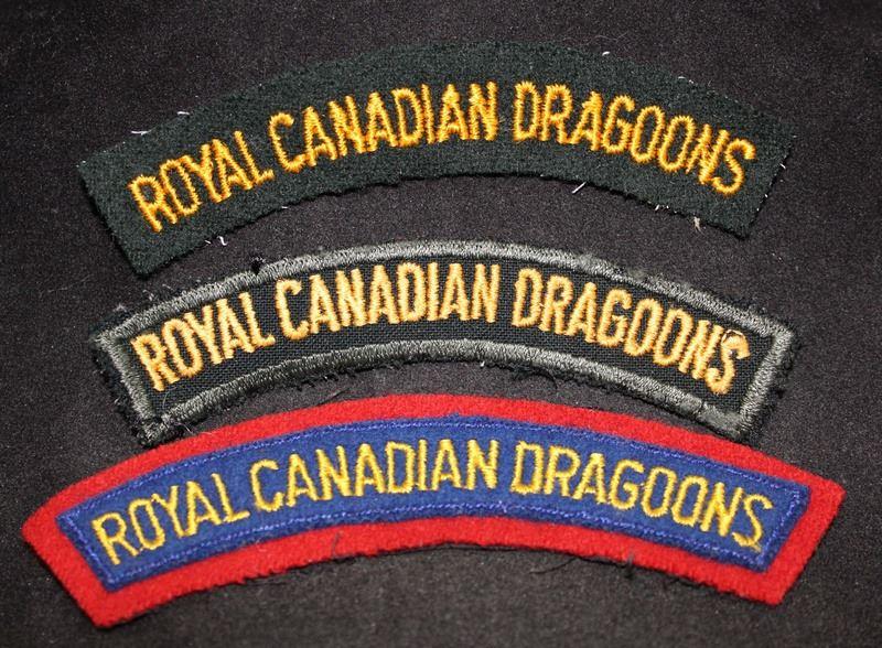 H184  Royal Canadian Dragoons Cloth flash lot