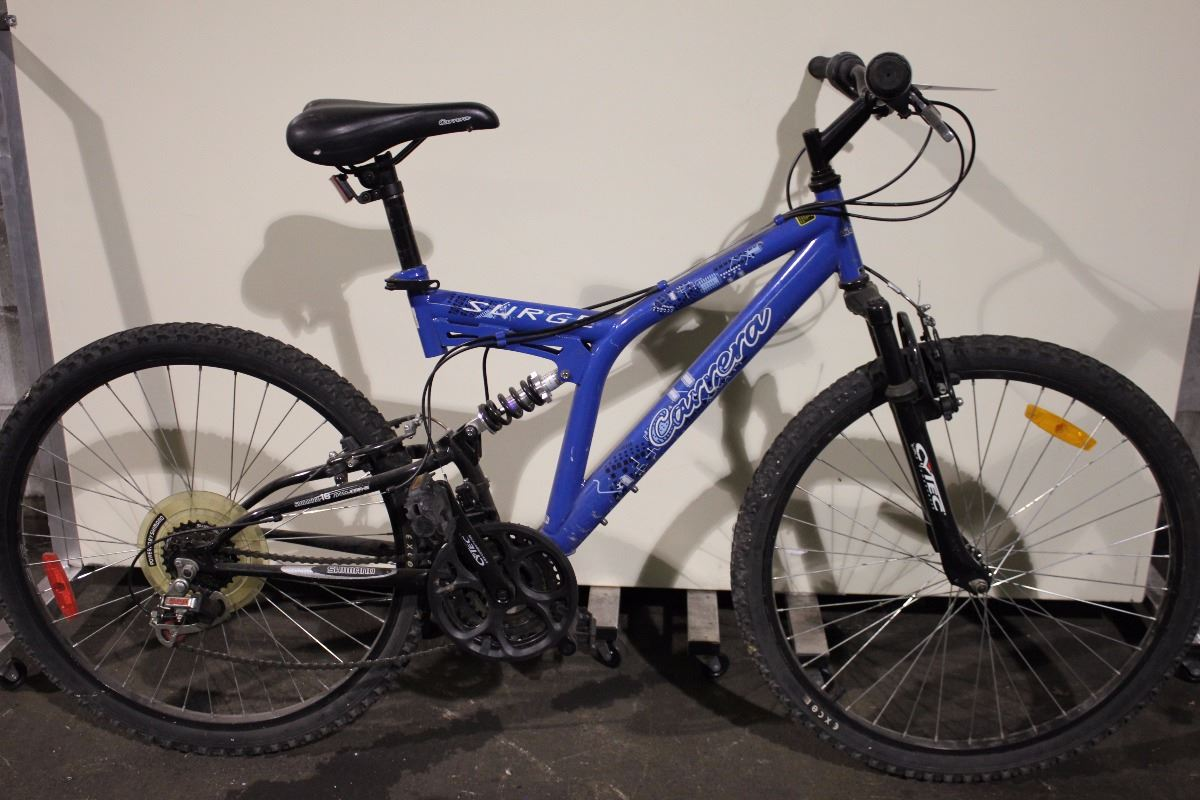 41a8d78cc12 Image 1 : BLUE CARRERA SURGE 18 SPEED FULL SUSPENSION MOUNTAIN BIKE