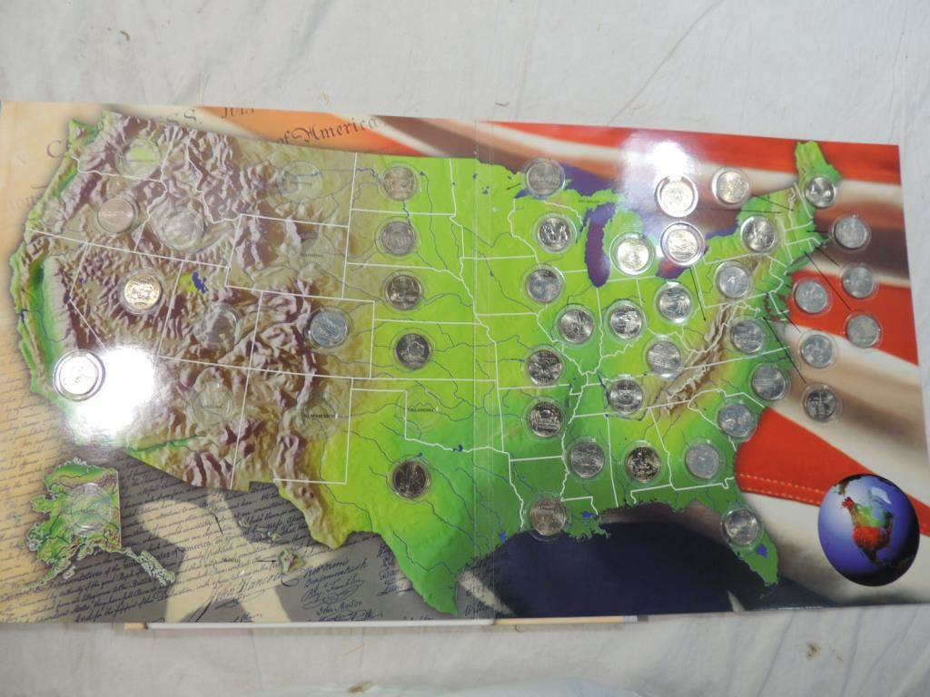 THE OFFICIAL 50 STATE QUARTERS COLLECTORS MAP on