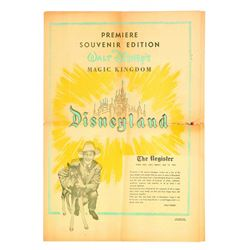 Disneyland Pre-Opening Orange County Register  News Supplement