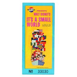 Extremely Rare 1964 World's Fair t's a Small World Ticket