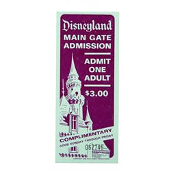 Disneyland Survey and Complimentary ticket.