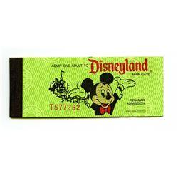 Unused Disneyland Ticket Book