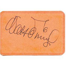 Walt Disney Signed Employee Card