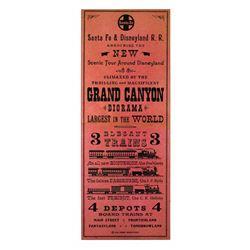 SANTA FE & DISNEYLAND RAILROAD - GRAND CANYON DIORAMA Gate Flyer