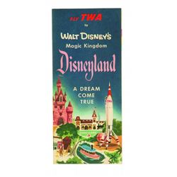 Disneyland   A Dream Come True   TWA Complimentary fold-out brochure with map