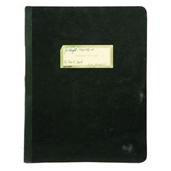 "Disneyland ""black book"" 1959"