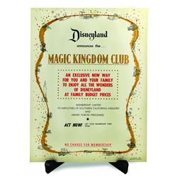 Magic Kingdom Club Announcement Poster