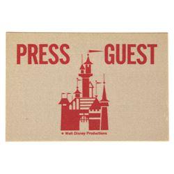 Disneyland PRESS PASS General Event