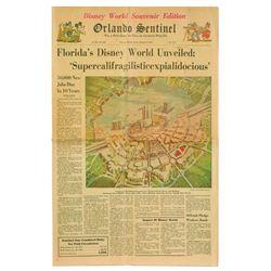 Orlando Sentinel Newspaper Walt Disney World Announcement