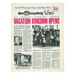 Walt Disney World News Volume 1 Number 1.