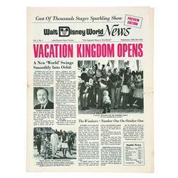 Walt Disney World News Volume 1 Number 1.