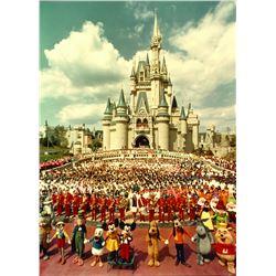 Walt Disney World 1st Anniversary Cast Photo.