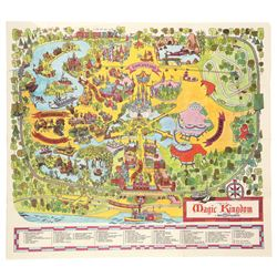 Map of Walt Disney World's Magic Kingdom, 1971 (first map of WDW)