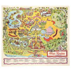 Map of Walt Disney World's Magic Kingdom, 1971 (first map of WDW)