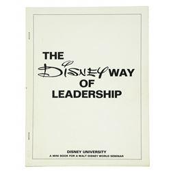 The Disney Way of Leadership Cast member  Handbook.