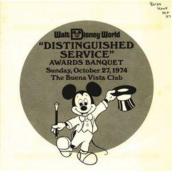 Walt Disney World Distinguished Service Awards Banquet Program 1974.