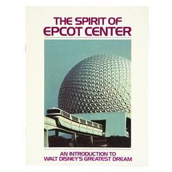 The Spirit of EPCOT Center, Employee Booklet and Folder .