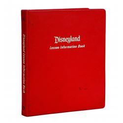 Disneyland Lessee Information Binder.