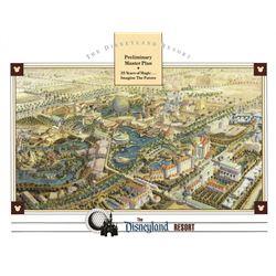 Disneyland WESTCOT rare preliminary Master Plan