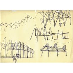 Original (6) Gabriel Scognamillo and Herb Ryman Tomorrowland Concept Drawings and Notes