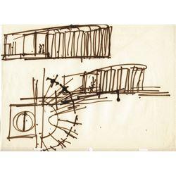 Original (4) Gabriel Scognamillo and Herb Ryman Tomorrowland Concept Drawings
