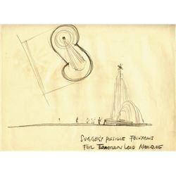 Original (2) Gabriel Scognamillo Tomorrowland Entrance Concept Drawings