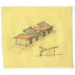 Original (11) Herb Ryman and Gabriel Scognamillo Tomorrowland Concept Drawings