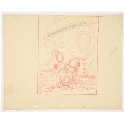 Original Fun Photos, Submarine Voyage Photo Display Design Drawing .