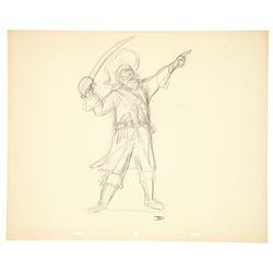 Original Marc Davis Pirate Drawing